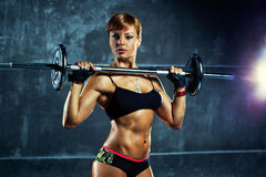 Young sports woman Royalty Free Stock Images