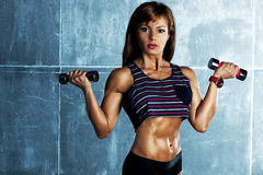 Young sports woman royalty free stock photography