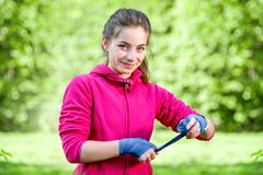 Young sports woman in the park Royalty Free Stock Image