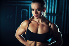 Young sports woman Stock Photos