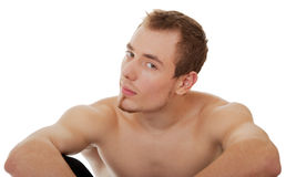Young sportsman with a bare torso. Young man - sportsman with a bare torso Royalty Free Stock Photography