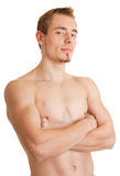 Young sportsman with a bare torso. Young man - sportsman with a bare torso Stock Images