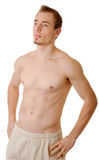 Young sportsman with a bare torso Stock Photos