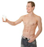 Young sportsman with a bare torso Royalty Free Stock Photography