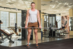 Young sportsman in gym. Stock Image
