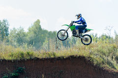 Motocross high jump Stock Images