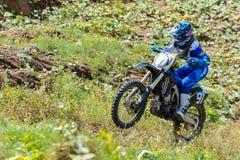 Motocross high jump Royalty Free Stock Photos