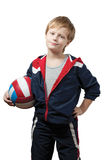 Young sportsmen stock photo