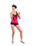 Young sportswoman is dancing Stock Photos