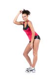 Young sportswoman is dancing Royalty Free Stock Images