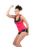 Young sportswoman is dancing Stock Image
