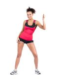 Young sportswoman performing zumba Stock Photography