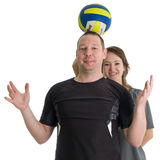 Young sporty couple Stock Photo