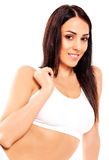 Young, sporty, fit and beautiful girl in sporty underwear. Stock Photo