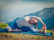 Young sporty fit woman doing Hatha Yoga asana Royalty Free Stock Photo
