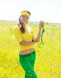 Young sporty girl Stock Photos