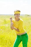 Young sporty girl Royalty Free Stock Images