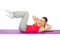 Young sporty girl doing gymnastic exercises Stock Photography