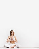 Young and sporty girl training in gym Royalty Free Stock Image