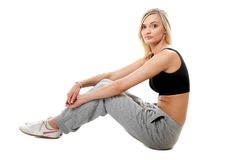 Young sporty girl after workout Stock Images