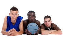 Young Sporty Interracial Teenage Group Stock Images