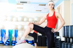 Young sporty woman Stock Image