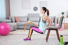 Young sporty woman doing exercise Royalty Free Stock Photo