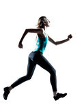 Young sporty woman jogging Stock Photo