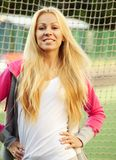 Young sporty woman outdoor Royalty Free Stock Photos