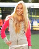 Young sporty woman outdoor Stock Photo