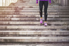 Young sporty woman running Royalty Free Stock Photography