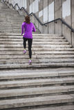 Young sporty woman running Royalty Free Stock Photos