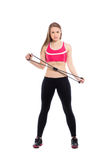 Young sporty woman Stock Photos