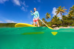 Young sporty woman on vacation Royalty Free Stock Photo
