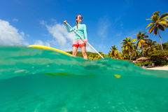 Young sporty woman on vacation Royalty Free Stock Photography