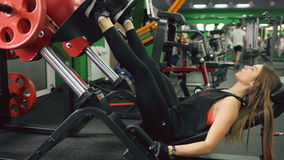Young sporty women doing feet exercises in the gym centre stock video