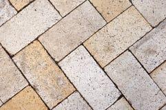 Pavement brick herring bone pattern texture Royalty Free Stock Photography