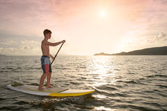 Young Stand Up Paddler Royalty Free Stock Photography