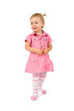 Young standing happy girl Royalty Free Stock Image