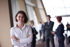 Young startup  business woman portrait, lbured people group in b Stock Photography