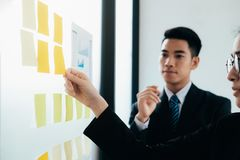 Business teamwork brainstorming discuss the investment. royalty free stock images