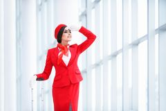 Young stewardess Royalty Free Stock Photos