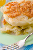 Young stewed cabbage on Irish art Stock Photography