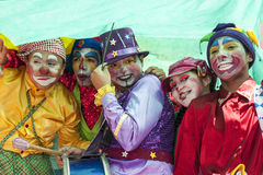 Young street clowns Royalty Free Stock Photo