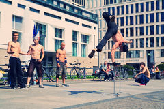 Young street dancers in Pariser Platz Royalty Free Stock Image