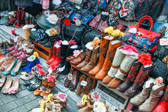 Young Street Fashion Shinjuku Street shoes. Street shoes, Young Street Fashion Shinjuku japan stock photo