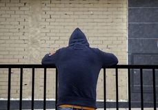 Young street gang. Man of street gang, delinquency and drugs, violence stock images