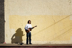 Young street musician Royalty Free Stock Photography