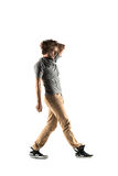 Young street style dancer posing on studio background Royalty Free Stock Photos