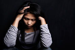 Young stress woman Stock Photo